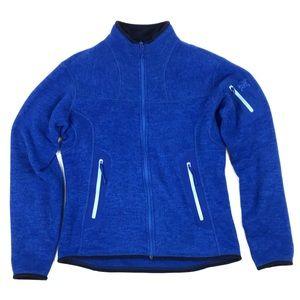 Arc'Teryx Covert Bright Blue Cozy Zip Outdoor Adventure Gear Cardigan Jacket M